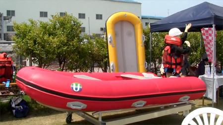 津波対策用救命胴衣フローティングプロテクター、HDボート、レスキューボード